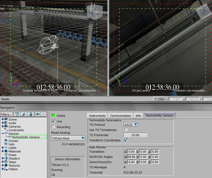 tdcam window in virtual scene